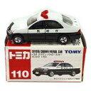 【中古】ミニカー 1/63 トヨタ クラウン パトロールカー(ホワイト×ブラック/赤箱) 「トミカ No.110」