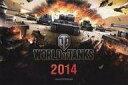ショッピング卓上カレンダー 【中古】カレンダー [単品] World of Tanks 2014年度卓上カレンダー World of Tanks×ガールズ&パンツァーコラボツリー展示会場配布品