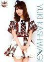 【中古】生写真(AKB48 SKE48)/アイドル/AKB48 柏木由紀/膝上 チェック柄衣装赤.白/AKB48 CAFE & SHOP限定 A4サイズ生写真ポスター 第61弾【タイムセール】