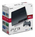 【中古】PS3ハード プレイステーション3本体 チャコール ブラック(HDD 160GB) (状態:コントローラー欠品)