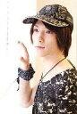 【中古】生写真(男性)/俳優 鈴木拡樹/バストアップ・衣装黒・帽子・左向き・ブラインド/公式生写真