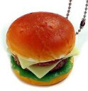 【新品】スクイーズ(食品系/キーホルダー) ダブルチーズバーガー 「ぷにっとハンバーガー」
