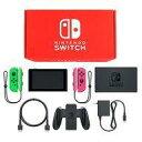 【中古】ニンテンドースイッチハード Nintendo Switch本体 カラーカスタマイズ /Joy-Con(L)ネオングリーン(R)ネオンピンク/Joy-Conストラップ(L)ネオングリーン(R)ネオンピンク