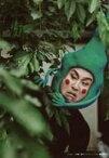 【中古】生写真(男性)/俳優 なだぎ武(エクボ)/バストアップ・衣装黒緑・目線左・背景緑・キャラクターショット/舞台「モブサイコ100〜裏対裏〜」ブロマイド(個人セット)