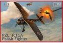 【新品】プラモデル 1/72 ポーランドPZL P.11A・ガル翼戦闘機 [PB72517]