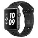 【中古】スマートウォッチ Apple Watch Nike+ Series3 GPSモデル 42mm スペースグレイアルミニウムケースとアンスラサイト/ブラックNik..
