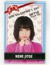 【中古】バッジ・ピンズ(女性) 地頭江音々(HKT48) 個別スクエア缶バッジ バレンタイン2018グッズ AKB48グループショップ予約限定