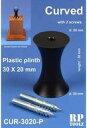 【新品】塗料・工具 湾曲型 30mm×20mm プラスチック製飾り支柱(大) [RP-CUR-3020P]