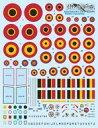 【新品】塗料・工具 1/32 Mk.IX/Mk.XIV & Mk.XVI ラウンデル&スコードロンインシグニア デカール [DCD3270]