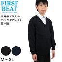 ファーストビート スクールニットVセーター M〜3L (FI...