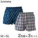 RealLife 綿100% トランクス 2枚組×3セット M〜5L (メンズ パンツ まとめ買い) (紳士肌着)【取寄せ】