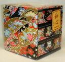 日本の伝統工芸品 伝統美 日本製、友禅染め和紙 三つ引きタン...