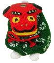 ちりめんお手玉 獅子舞型お手玉 緑色系 日本製です。 〈おも...
