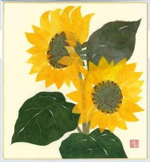 幼师纸剪贴画花朵-夏天八月出生花粘贴画向日葵和向日葵散纸向日葵-纸贴画技法与作品