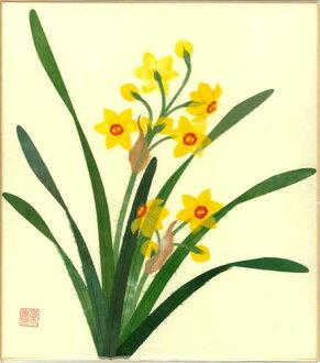 幼师纸剪贴画花朵-冬季一月出生花粘贴画水仙分散纸水仙-纸贴画技法与作品