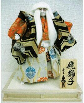 HISA 作日本歌舞伎娃娃鏡子獅子鏡怕 8 大小日本歌舞伎娃娃寬度 33 x 深度 26 x 高度 41 釐米 q 日本傳統日本建設歌舞伎娃娃日本娃娃傳統娃娃日本俑,只是傀儡日本文化工藝品紀念品嗎?