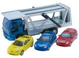 トラックコレクション ミニカー 趣味の玩具・模型 長さ27cm いすゞ自動車 ISUZUギガ(GIGA) ジュニアキャリアカー キャリーカー キャリアトラック ミニカー三台付き!