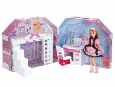 楽しく遊べる玩具・着せ替え人形リカちゃん人形リカちゃんハウスすてきなリカちゃんのおへや※人形・ランド