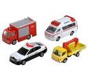 楽しく遊べるおもちゃ 玩具 カーコレクション ミニカー トミカギフトセット 緊急車両セット5 〈趣味 コレクション玩具 大人 子供向け 自動車模型 ハイメディック救急車 デュトロ ウォーターカッター車 レガシィ パトカー すずかつ〉