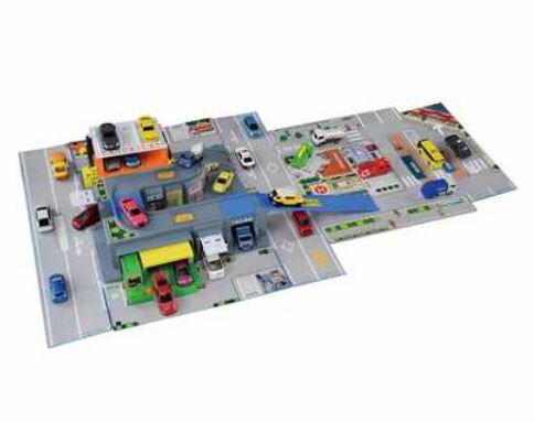 楽しく遊べるおもちゃ・玩具カーコレクションミニカートミカワールドとびだすおかたづけ立体マップトミカ4