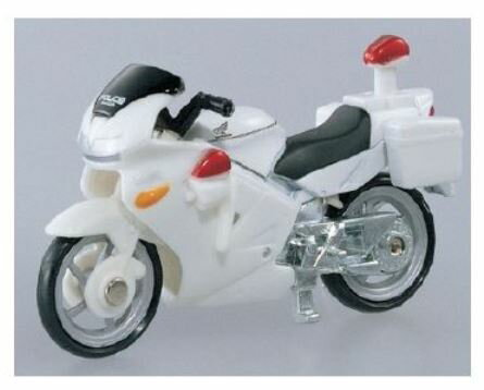 楽しく遊べるおもちゃ・玩具働く車コレクションミニチュアバイクトミカNo4HondaVFR白バイ〈趣味