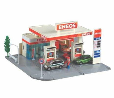 楽しく遊べるおもちゃ・玩具カーコレクションミニカートミカタウンガソリンスタンド(ENEOS)プラキッ