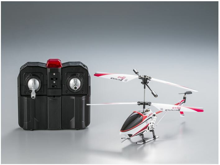 ホビーラジコン趣味の玩具・模型カーコレクションRC赤外線ヘリコプターメタルファルコン3〈R/Cヘリコ