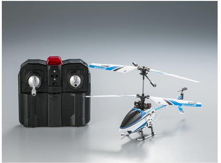 ホビーラジコン趣味の玩具・模型カーコレクションRC赤外線ヘリコプターメタルファルコン4〈R/Cヘリコ