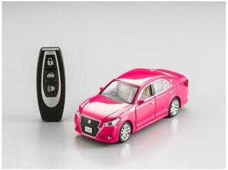 聲光控制模型車關鍵遙控玩具興趣! PiPiTKEY 鷚關鍵豐田皇冠粉紅色 q 汽車收音機豐田豐田汽車模型冠成人和兒童玩具玩具嗎?
