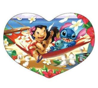 拼圖動畫拼圖益智系列愛好拼圖迪士尼系列心 [DSH-180-413 夏威夷總統] [迪士尼拼圖玩具 Lilo & 繡心形拼圖透明益智玩具教育嗎?