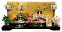 送料無料 久月監製 伝統工芸士 横山薫作 雛人形 正絹 木胴木手使用 小三五親王 久月オリジナル頭 松鶴柄四曲屏風 衣裳着 親王飾り 木製平台飾り 〈東京久月 久月の雛人形 初節句 お雛飾り ひな人形 殿姫飾り 親王揃い 二人飾り 親王平飾り〉