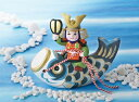 楽天人形の鈴勝かわいい鯉のぼりのお飾り! 昭峰作 陶器製 五月人形 武者人形 鯉のぼり 出世鯉 【初陣鯉のぼり】 お盆・屏風付きです。 〈5月人形 子供大将 鯉幟 こいのぼり 端午の節句 子供の日 5月5日 五月五日 外国人・海外旅行へのお土産・おみやげにも人気です。〉