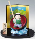 陶器製 武者人形・日本人形 お椀の船と箸の櫂 一寸法師!