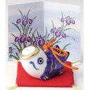 磁器製 五月人形 5月人形 鯉幟 鯉のぼり こいのぼり 端午の節句 子供の日 5月5日 こども鯉 子鯉 青色 (小) Koinobori