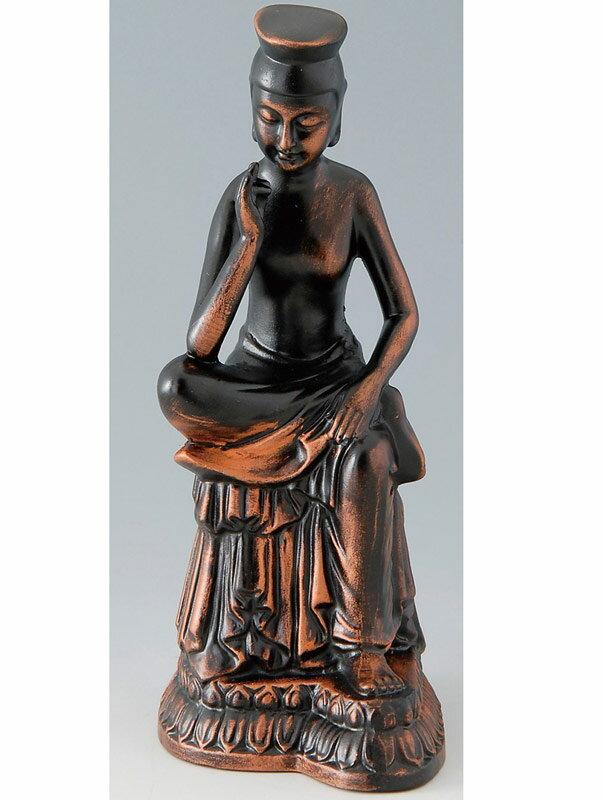 《新作》 陶器製 仏像 【弥勒菩薩】(中) 瀬戸物 日本製です。 〈仏教 ぶつぞう みろくぼさつ ミロクボサツ 彌勒菩薩 仏様 和のインテリア・置物・置き物 日本の伝統品 外国人へのお土産としても人気です。おみやげ〉