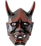 《新作》 陶器製 能面 吉祥面 【般若・はんにゃ】(大) Noh mask 〈海外・外国へのお土産・プレゼントにも人気です。 日本の伝統品 お面 のうめん 通販〉