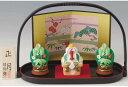 陶器製 お正月飾り 手提げ盆のり 鏡餅と門松 明けましておめでとうございます!