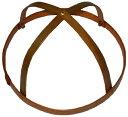 特製 桃の節句のつるし飾り(雛の吊るし飾り・ひなのつるし飾り・さげもん・傘福)用 竹の輪(小4) 輪の直径14cm〜16cm (約15cmの商品ですが、自然素材の手作り品につき、表示内での御提供になります。)