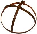 特製 桃の節句のつるし飾り(雛の吊るし飾り・ひなのつるし飾り・さげもん・傘福)用 竹の輪(中1) 輪の直径17cm〜19cm (約18cmの商品ですが、自然素材の手作り品につき、表示内での御提供になります。)