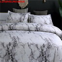 シングルサイズ 大理石のラインの寝具セット シングル 羽毛布団カバー 枕カバーセット ベッドカバー カバー【領収発行可】