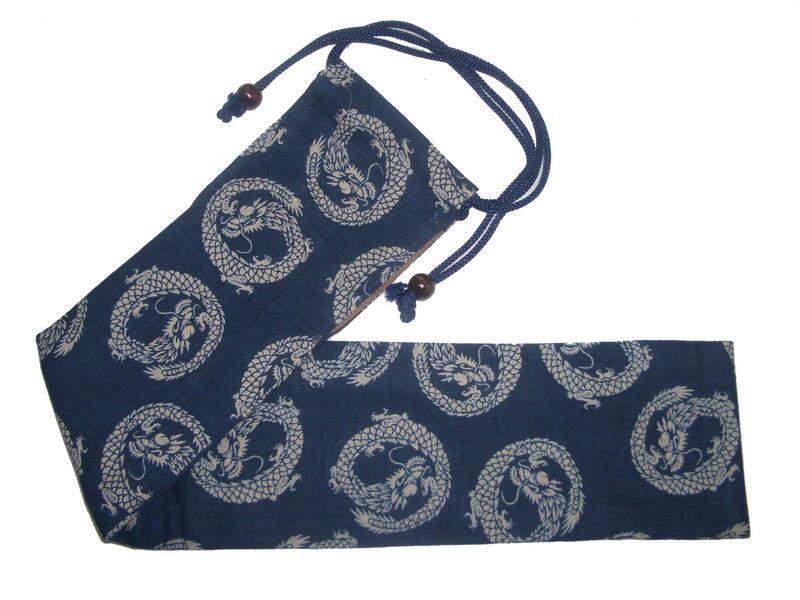 藍調型染の和太鼓バチ入れ3・龍の商品画像