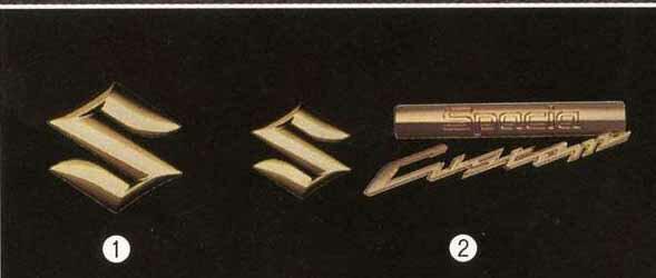 『スペーシア』 純正 MK32S エンブレム(ゴールド) フロントグリル用 写真1のみ パーツ スズキ純正部品 飾り カスタム エアロ飾り ワンポイント spacia オプション アクセサリー 用品