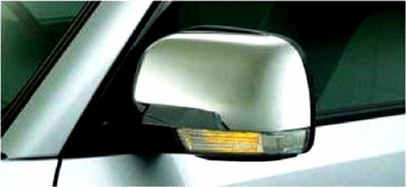 『パジェロ』 純正 V83W メッキミラーカバー 左右セット パーツ 三菱純正部品 ドアミラーカバー サイドミラーカバー カスタム PAJERO オプション アクセサリー 用品