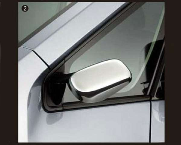 デリカD:5 パーツ メッキサイドアンダーミラーカバー  三菱純正部品 CV1W CV5W CV2W オプション アクセサリー 用品 純正  メッキ
