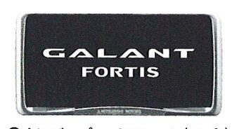真正 C4A 車牌框架 (鍍) 件三菱原裝配件 GALANTFORTIS 可選配件
