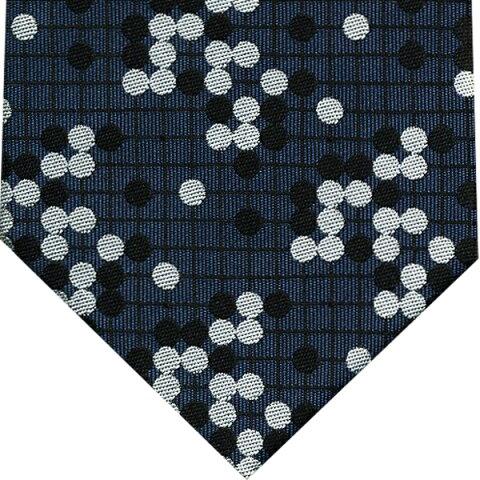 ネクタイ 囲碁将棋 和風柄(詰碁)紺系プレゼント ギフト 贈り物