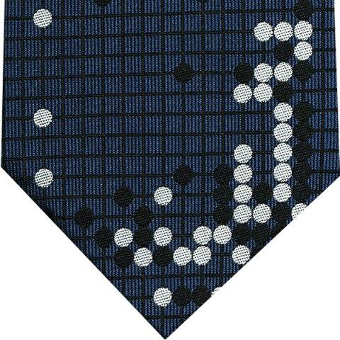 ネクタイ 囲碁将棋 和風柄(耳赤の譜)紺プレゼント ギフト 贈り物
