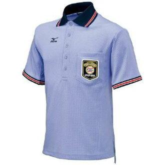 棒球裁判的短袖襯衫 < 煙熏藍 > * 尺寸︰ s、 M、 L、 O、 XO * 網格內的保護者為美津濃隆巴德馬克和左的胸口 JIS 標誌