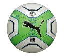 【PUMA~プーマ】サッカーボール【パワーキャット 3.12 HS J 】(サイズ:5)<ホワイト/ジャスミン グリーン/ブラック/モナコ ブルー>