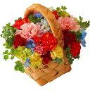 【送料込み/直送】キャンディーカラーバスケットアレンジMother's Day 2021 母の日ギフト 母の日 母の日プレゼント|Mキャンディーカラーアレンジ|